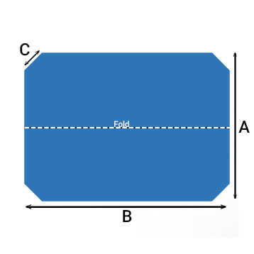 Rectangle with 4 cut corners
